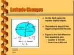 latitude changes