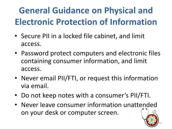 General Guidance on Physical and Electronic Protection of Information
