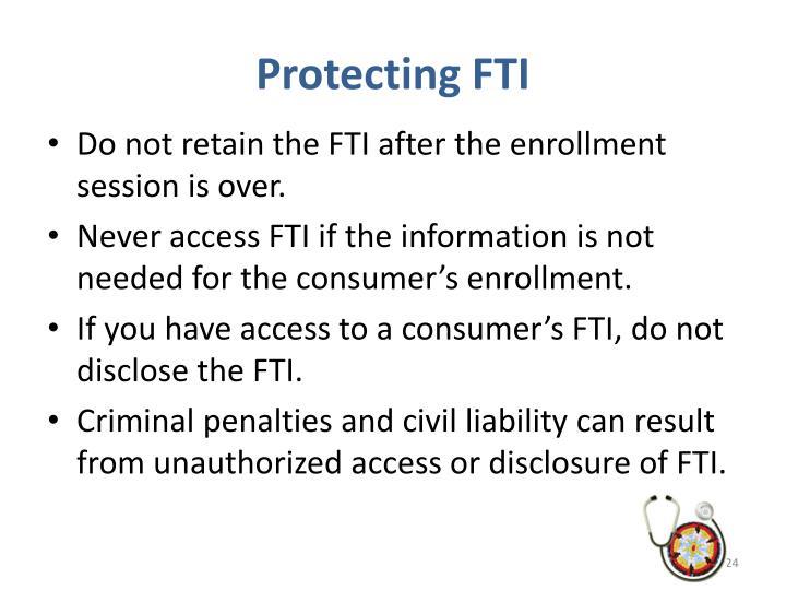Protecting FTI