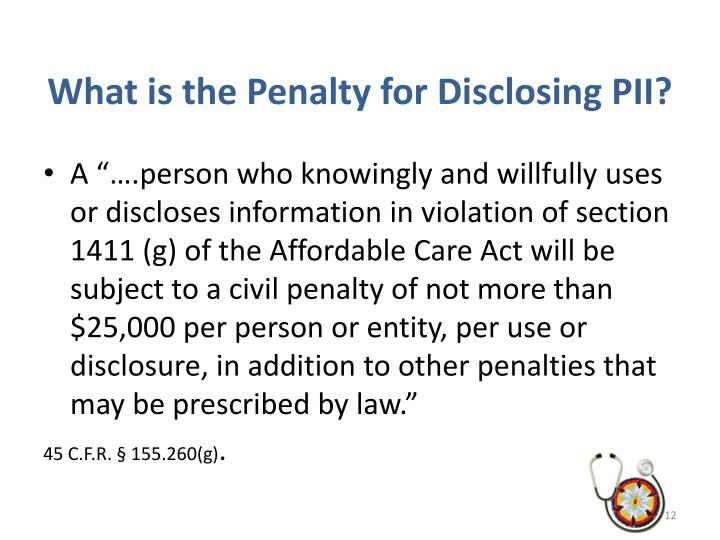 What is the Penalty for Disclosing PII?