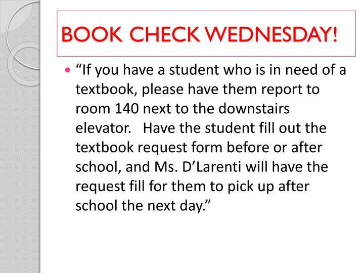Book check wednesday