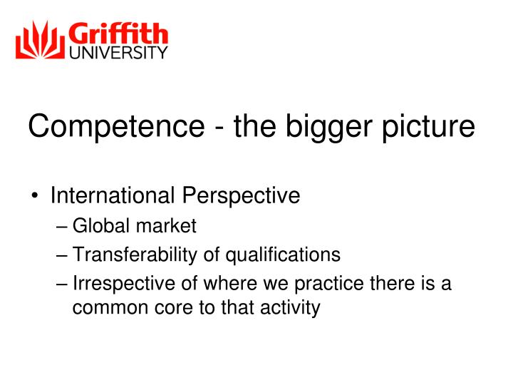 Competence - the bigger picture
