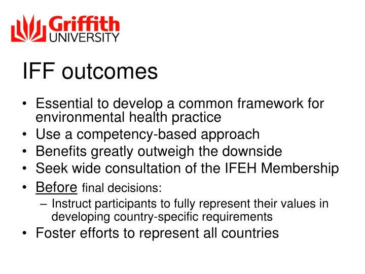IFF outcomes