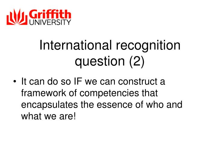 International recognition question (2)