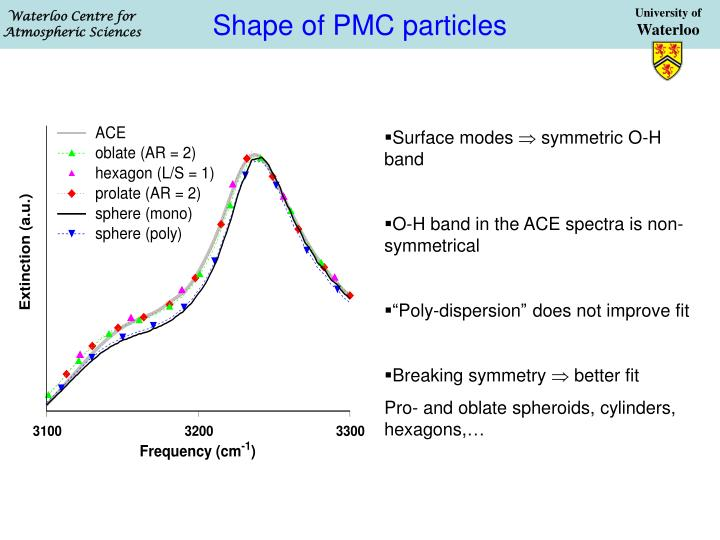 Shape of PMC particles