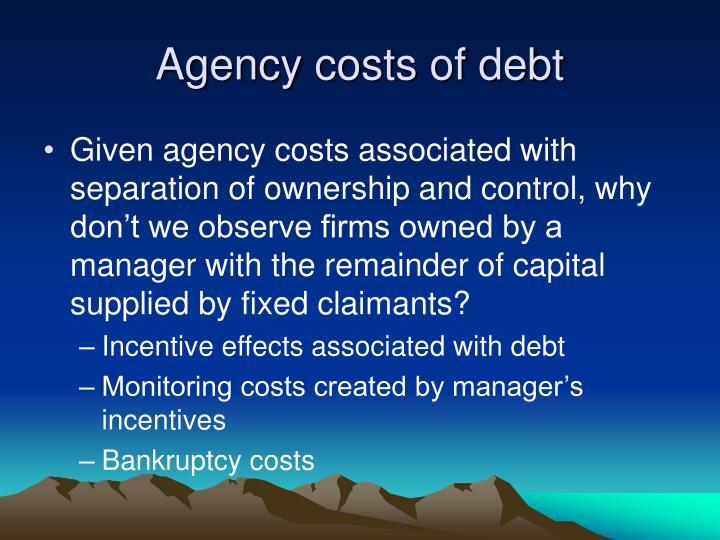 Agency costs of debt
