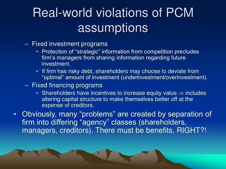 Real-world violations of PCM assumptions