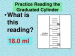 practice reading the graduated cylinder