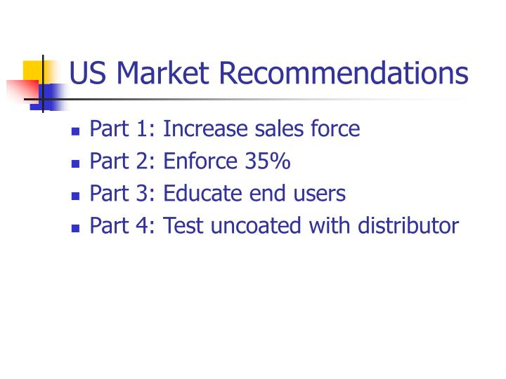 US Market Recommendations