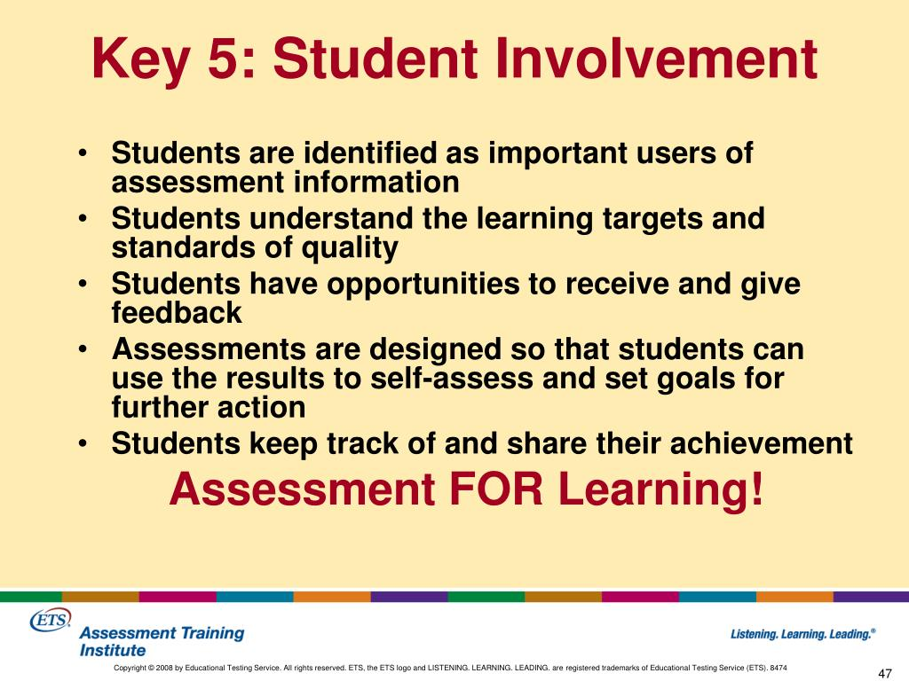 PPT - Classroom Assessment for Student Learning PowerPoint