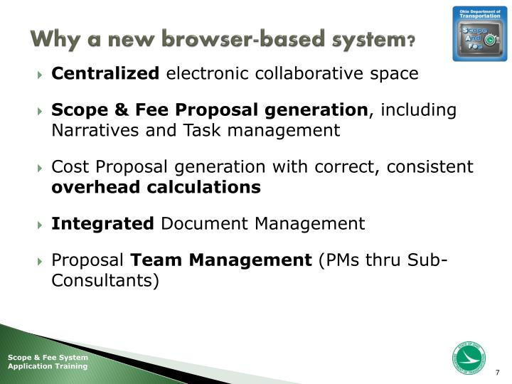 Why a new browser-based system?