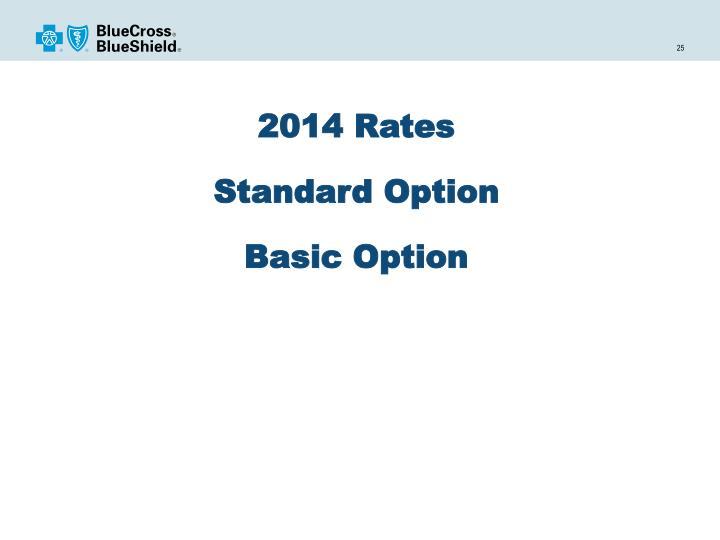 2014 Rates