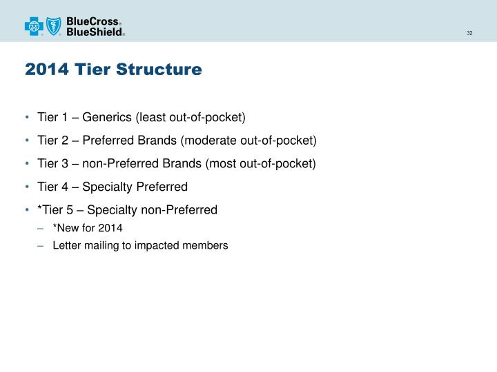 2014 Tier Structure