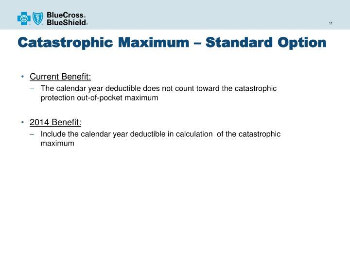Catastrophic Maximum – Standard Option