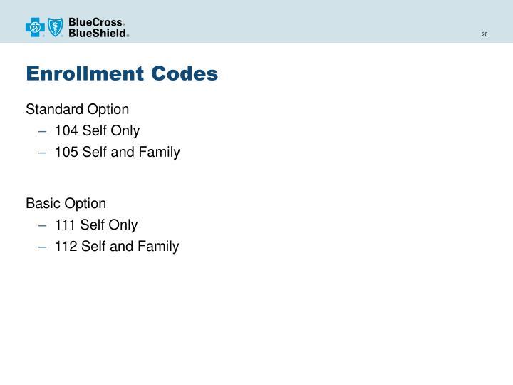 Enrollment Codes