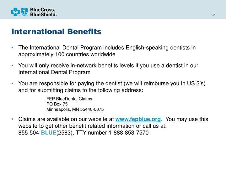 International Benefits