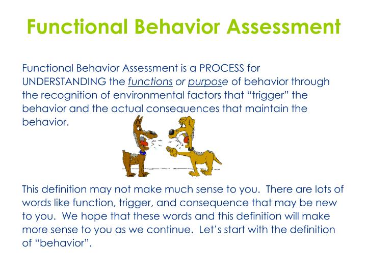 Ppt  Individual Pbs Module  Functional Behavior Assessment