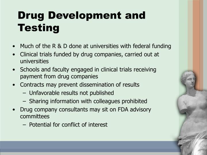 Drug Development and Testing