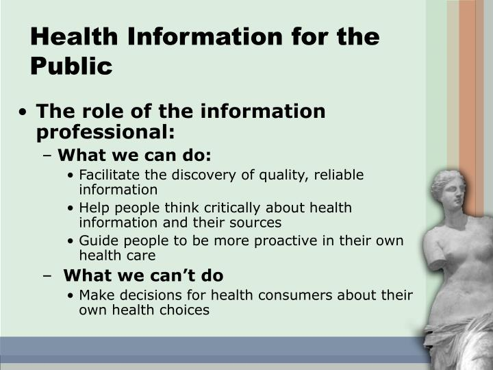 Health Information for the Public