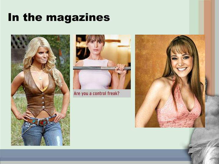 In the magazines