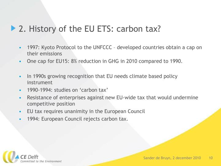 2. History of the EU ETS: carbon tax?