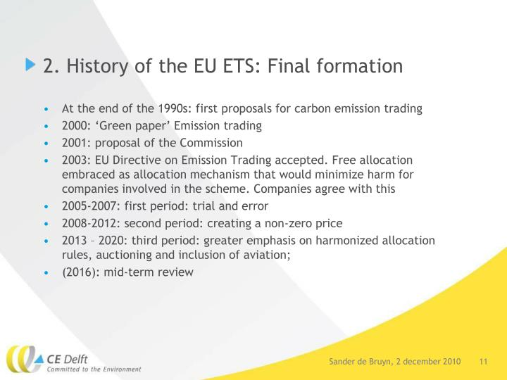 2. History of the EU ETS: Final formation