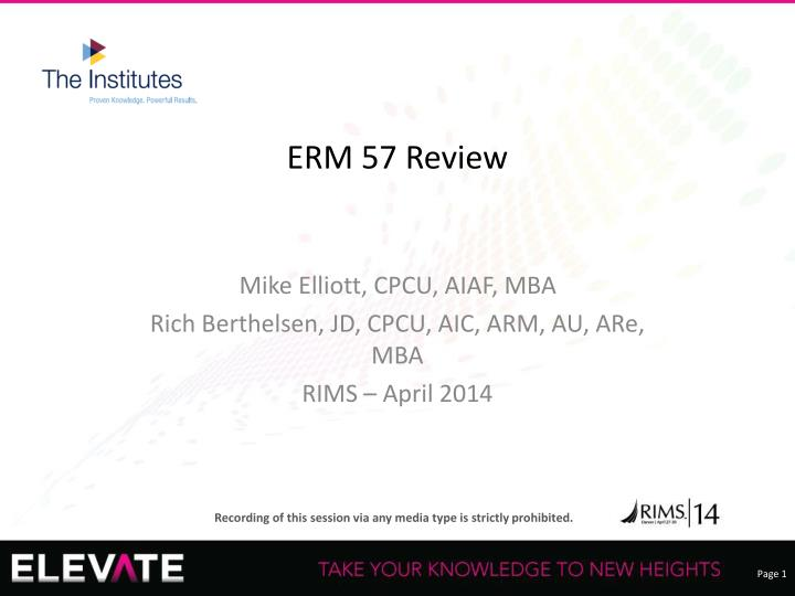 erm 57 review n.