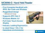 mc9090 g hand held reader