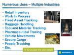 numerous uses multiple industries