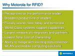 why motorola for rfid