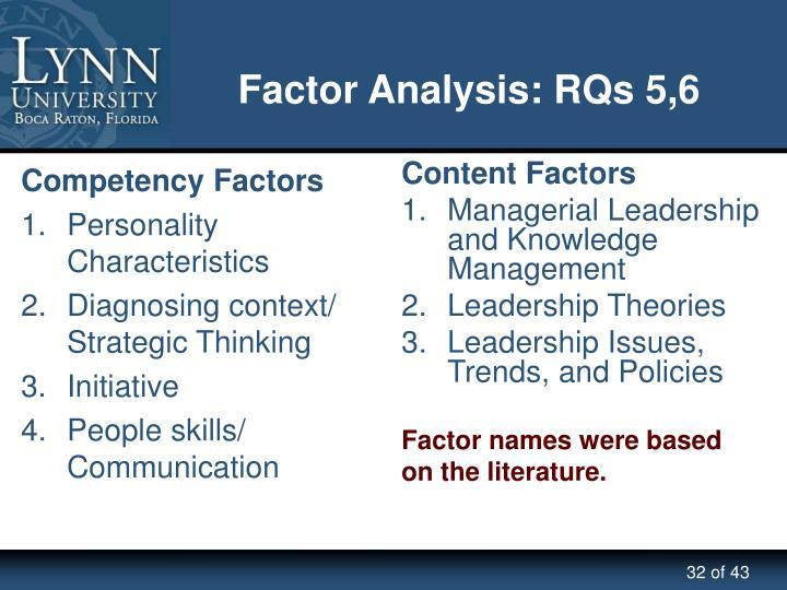 Competency Factors