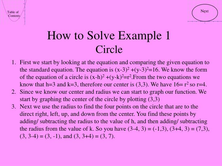 How to Solve Example 1