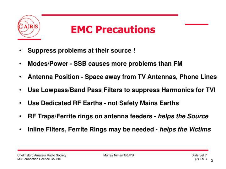 Emc precautions