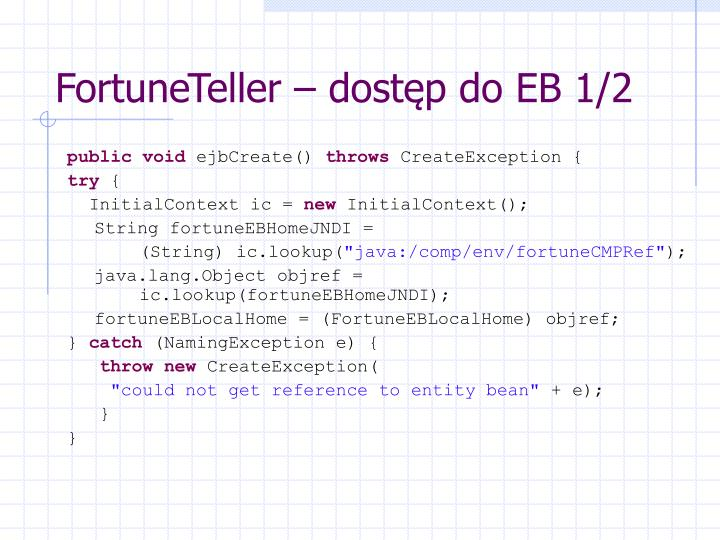 FortuneTeller – dostęp do EB 1/2