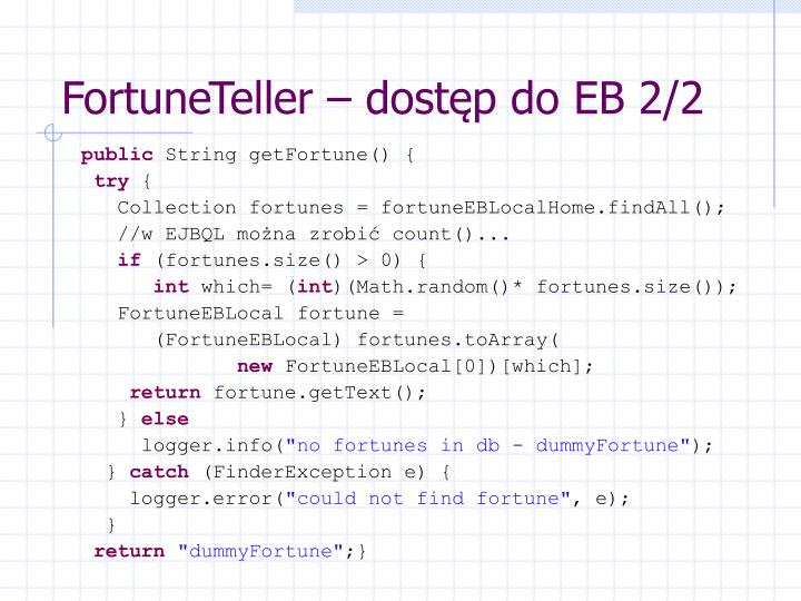 FortuneTeller – dostęp do EB 2/2