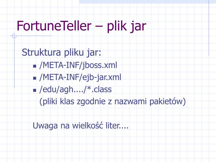 FortuneTeller – plik jar