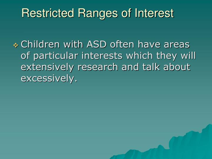 Restricted Ranges of Interest