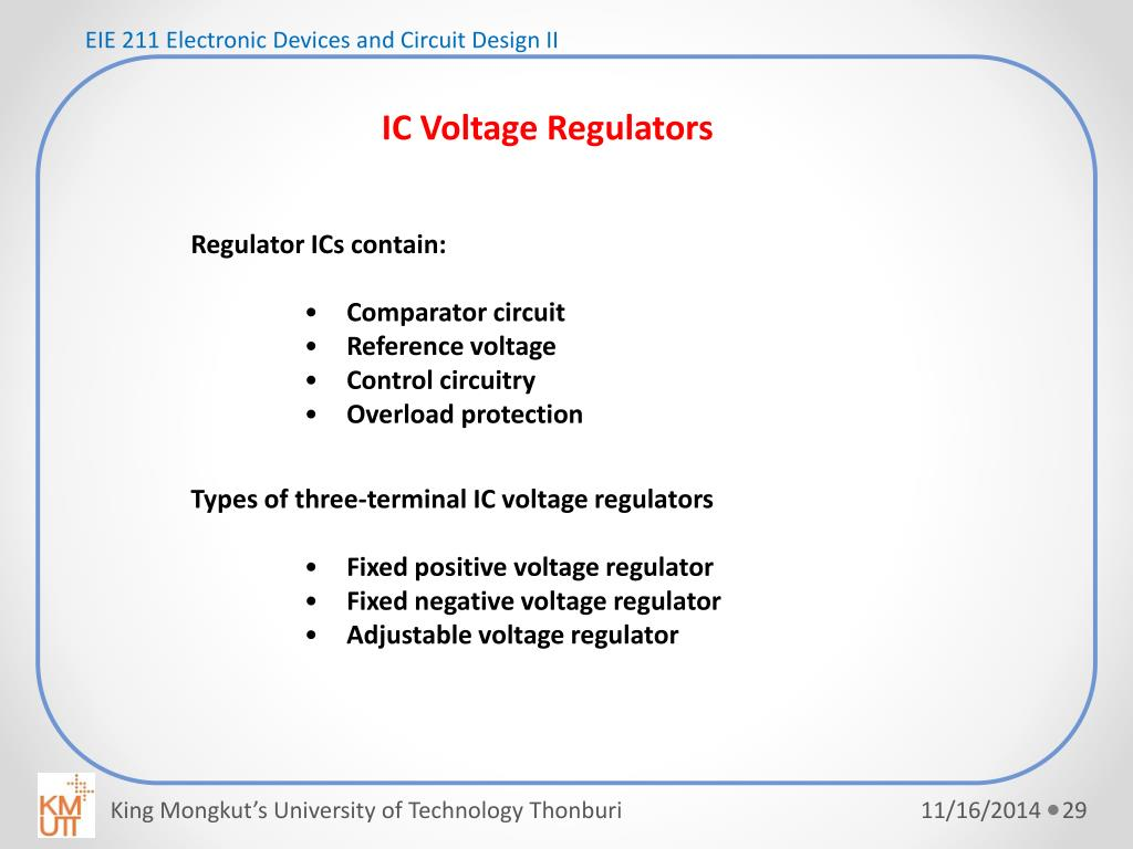 PPT - EIE 211 Electronic Devices and Circuit Design II