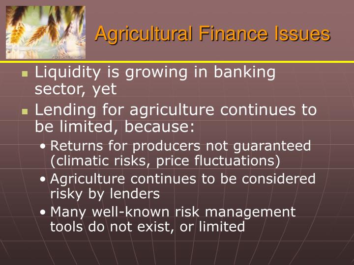 agricultural finance vs financial management 1 purpose this regulation prescribes policies and procedures for evaluating and reporting on the united states department of agriculture financial management systems.