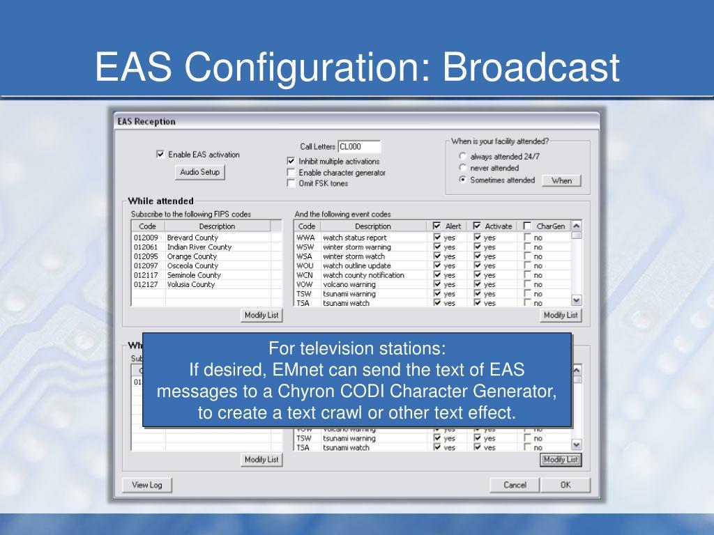 PPT - EMnet Setup: EAS Message Reception (Broadcast Stations