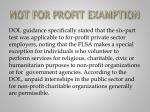 not for profit examption