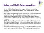 history of self determination