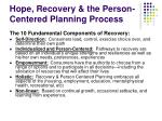 hope recovery the person centered planning process