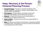 hope recovery the person centered planning process1