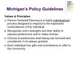 michigan s policy guidelines