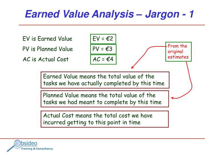 From the original estimates