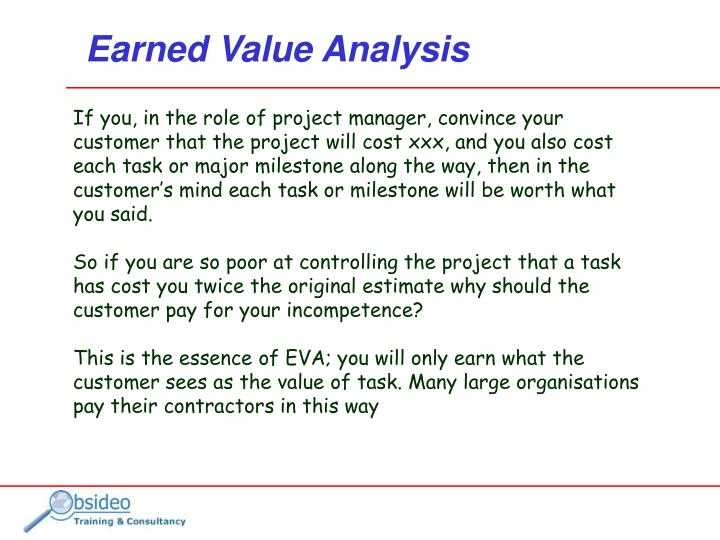 Earned value analysis1
