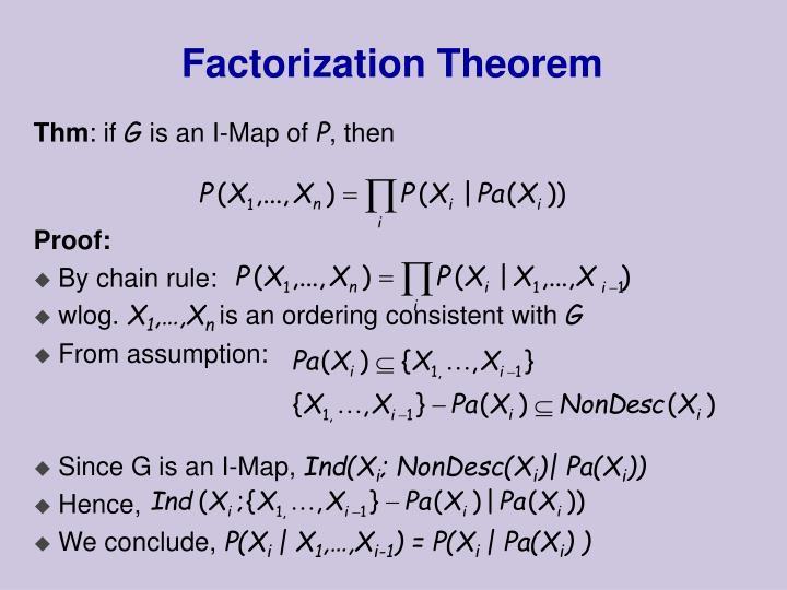 Factorization Theorem