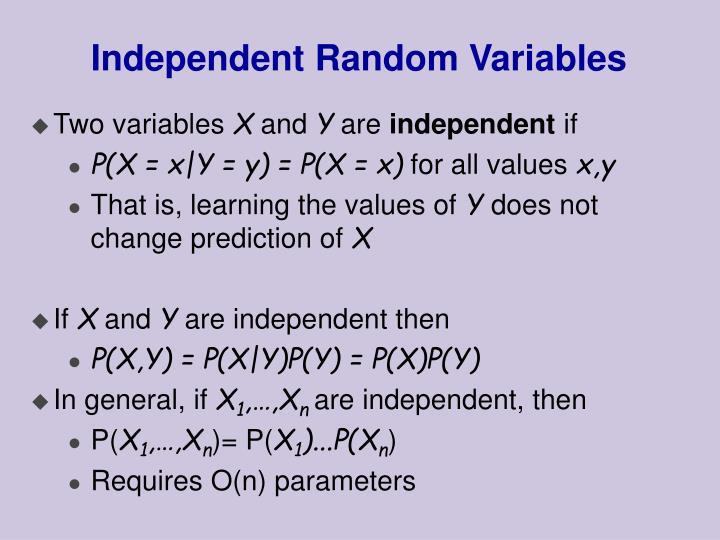 Independent random variables