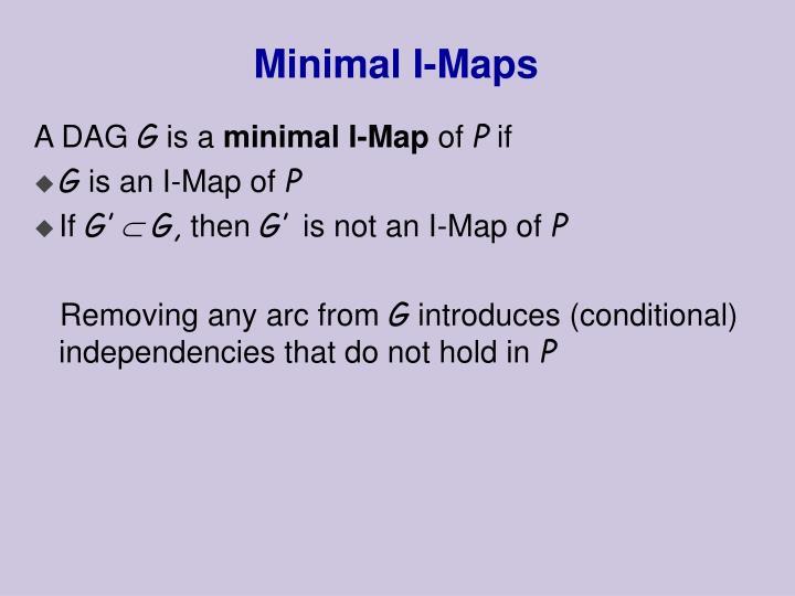 Minimal I-Maps